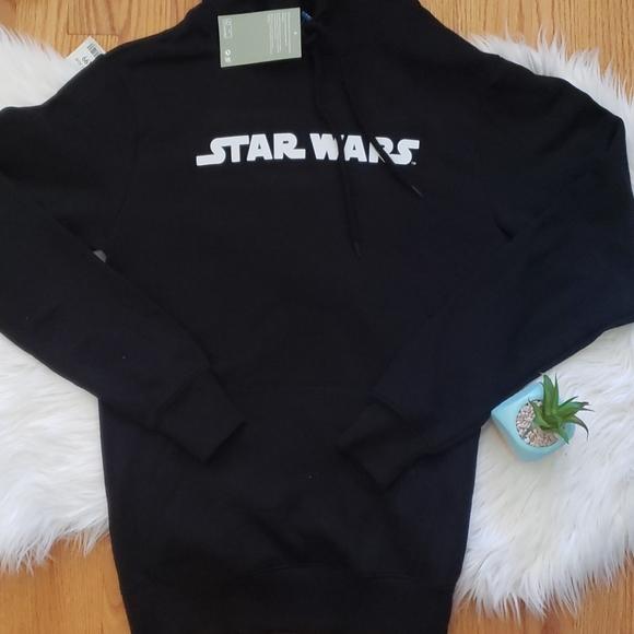 Star Wars x H&M Logo Black & White Pullover Hoodie